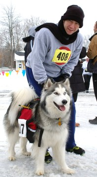 This pooch entrant in the Frostbite Run was used to the cold.