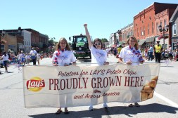 Walther Farms marched in the 2014 parade, giving out bags of Lay's chips along the way. They grow some of the potatoes that go into the chips and are based just south of Schoolcraft.