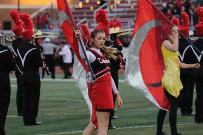 Taylor Grigg of the Big Red Machine's award winning Color Guard in action.