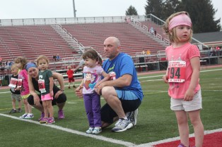 The Baby Bolt is popular for the little ones, ages 1-4. Each gets a medal for their participation.