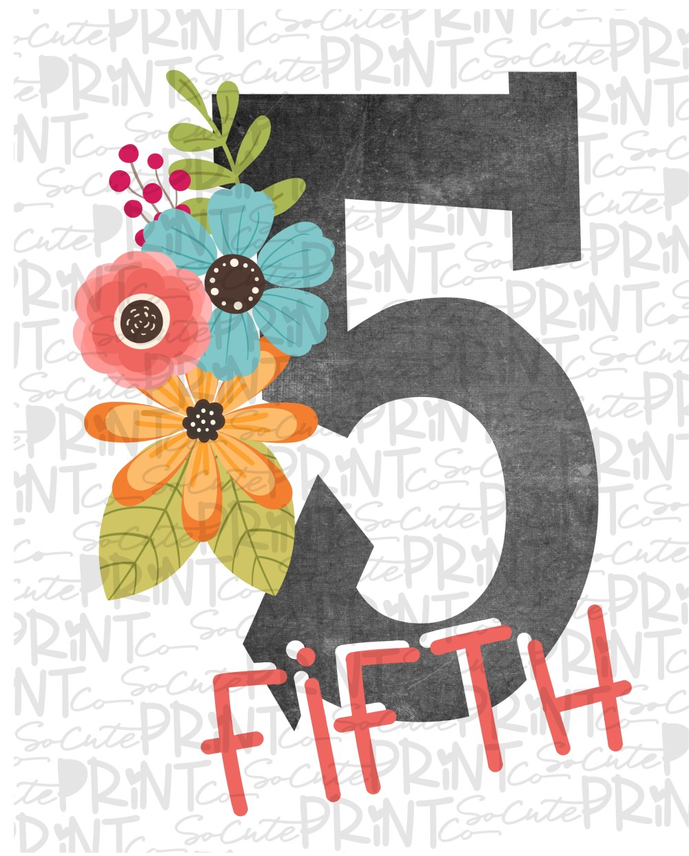 medium resolution of 5th grade chalkboard with flowers 18 *Printable PNG* – socuteappliques.net