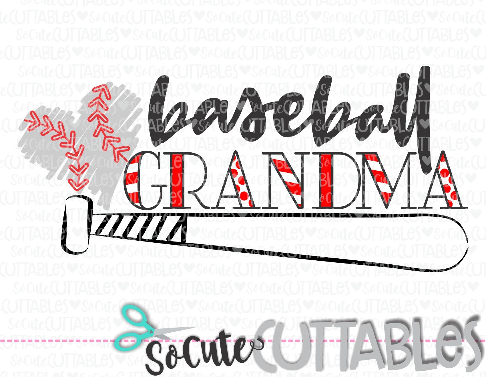 Baseball Grandma 18 Bat Scc Svg Socuteappliques Net