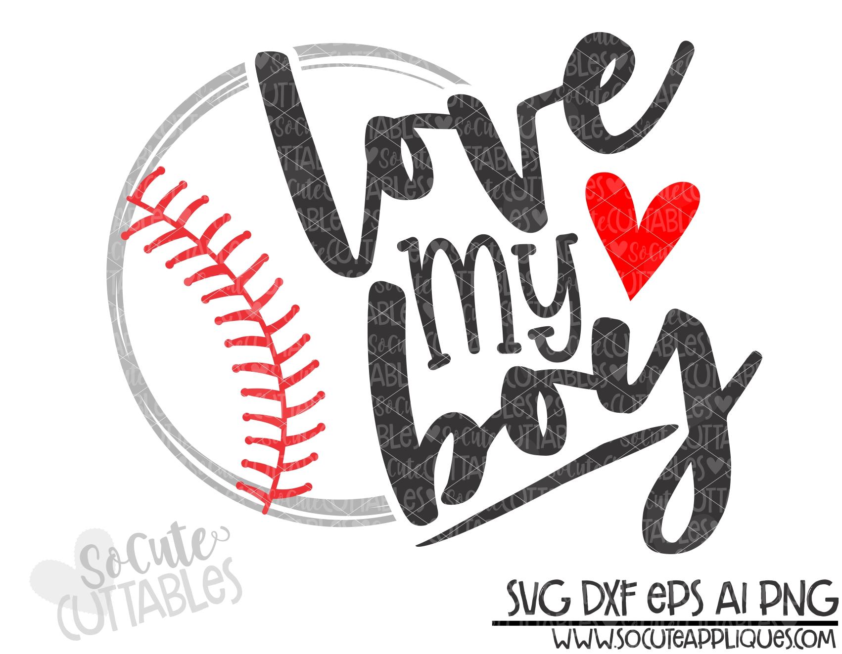 Download love my boy half baseball 19 scc SVG - socuteappliques.net