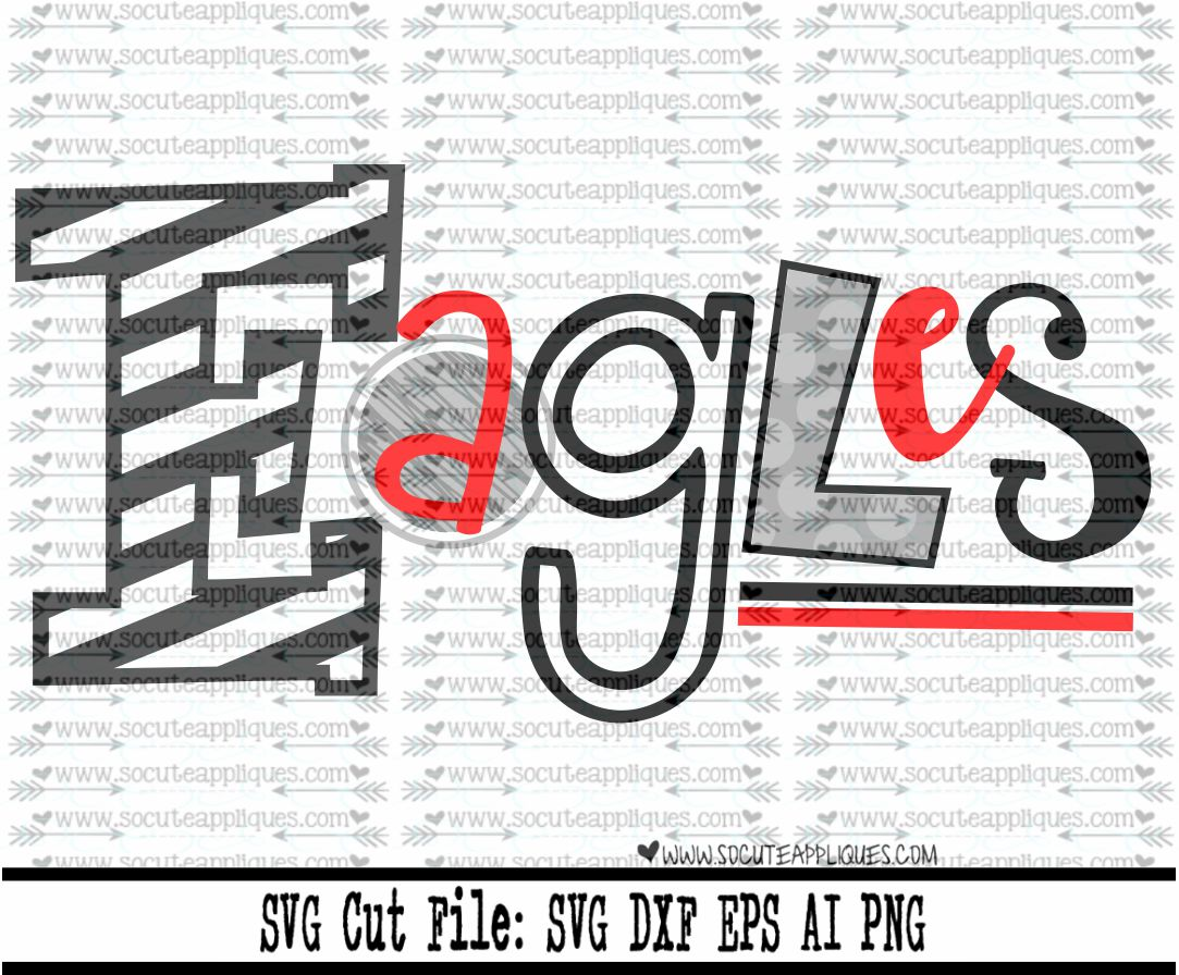 eagles funky letters 17 svg sca