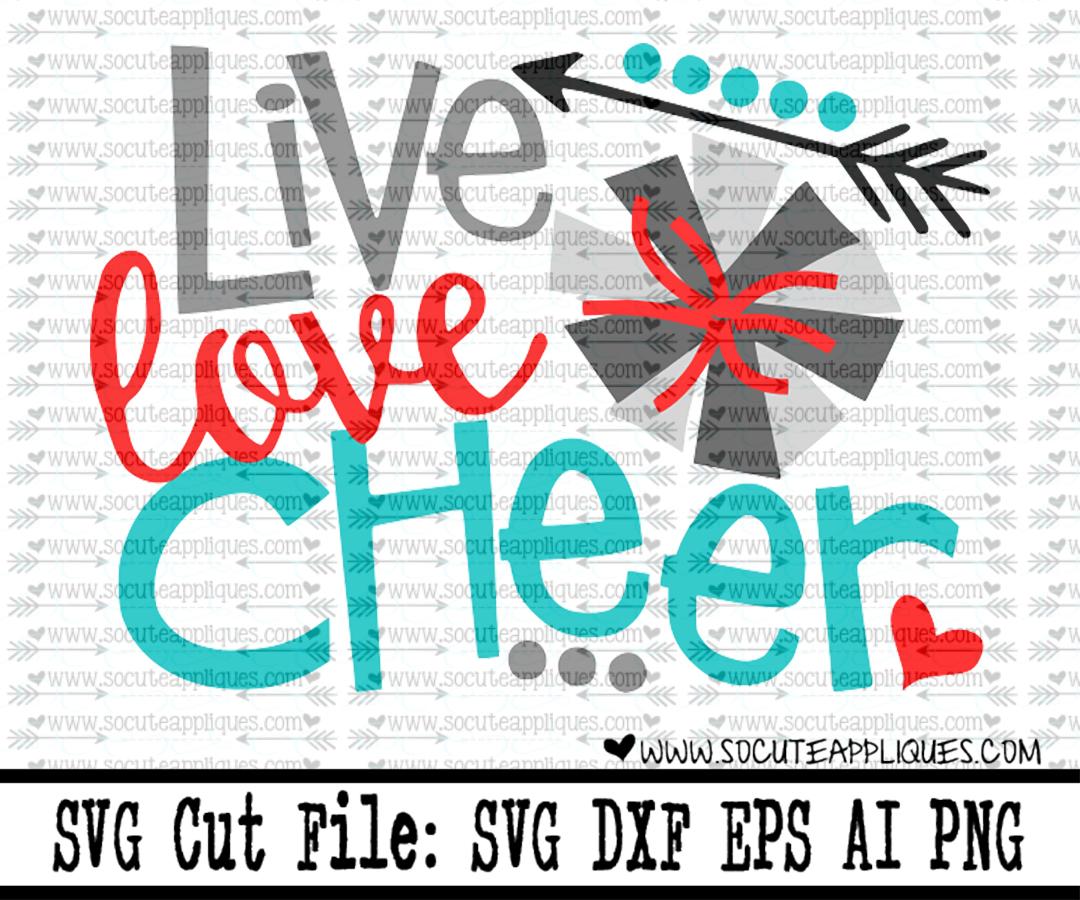 Download live love cheer 16 svg sca - socuteappliques.net