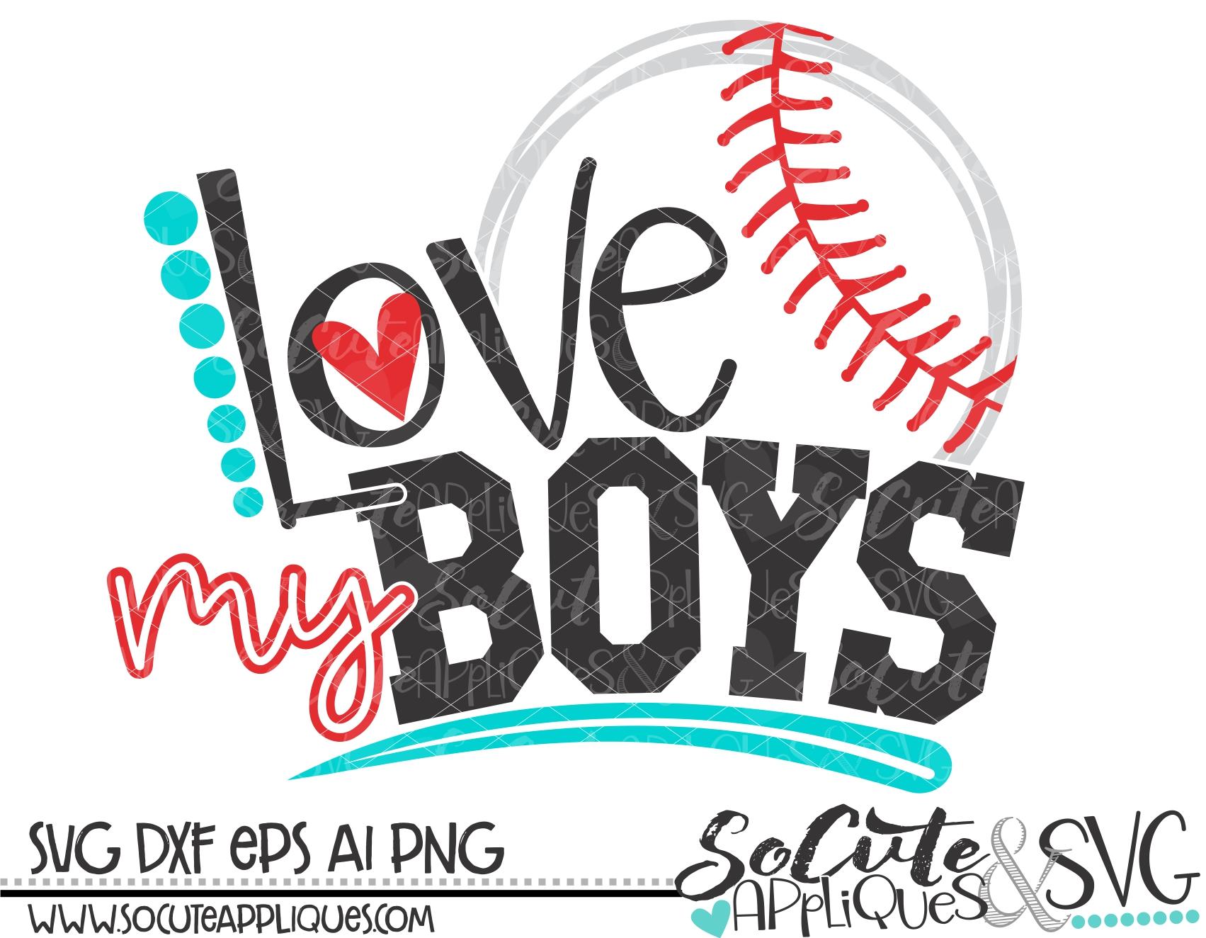 Download love my boys baseball 18 svg sca - socuteappliques.net