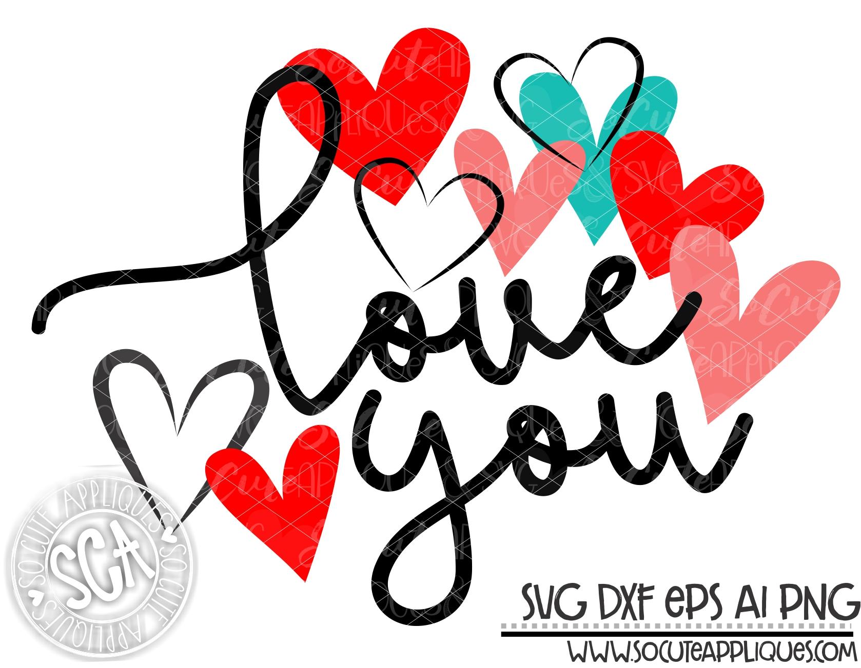 Download love you multi heart 18 svg sca - socuteappliques.net