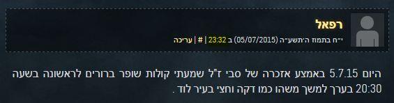 קול שופר לוד 5.7.2015