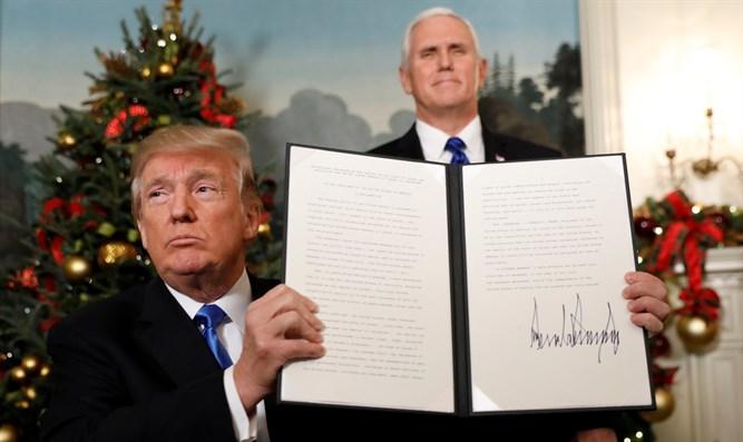 רמזים חזקים על הכרזת טראמפ והכרה בירושלים כבירת ישראל
