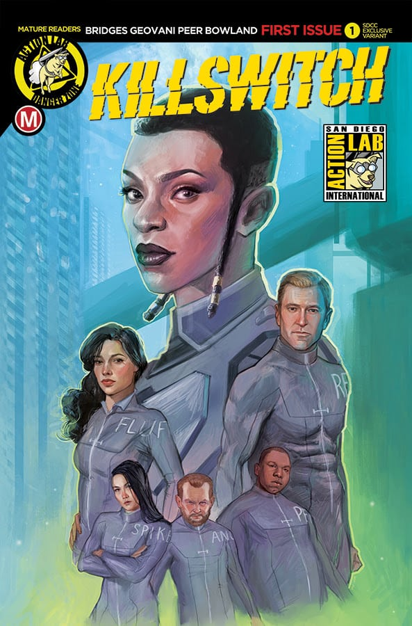 Pick up the first issue of KILLSWITCH from the ACTION LAB ENTERTAINMENT booth at this years SDCC!