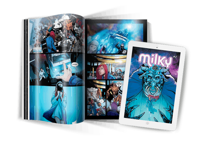 MILKY #2 - Sci Fi, Monsters and Romance. Highly worth your Kickstarter Pledge! 3