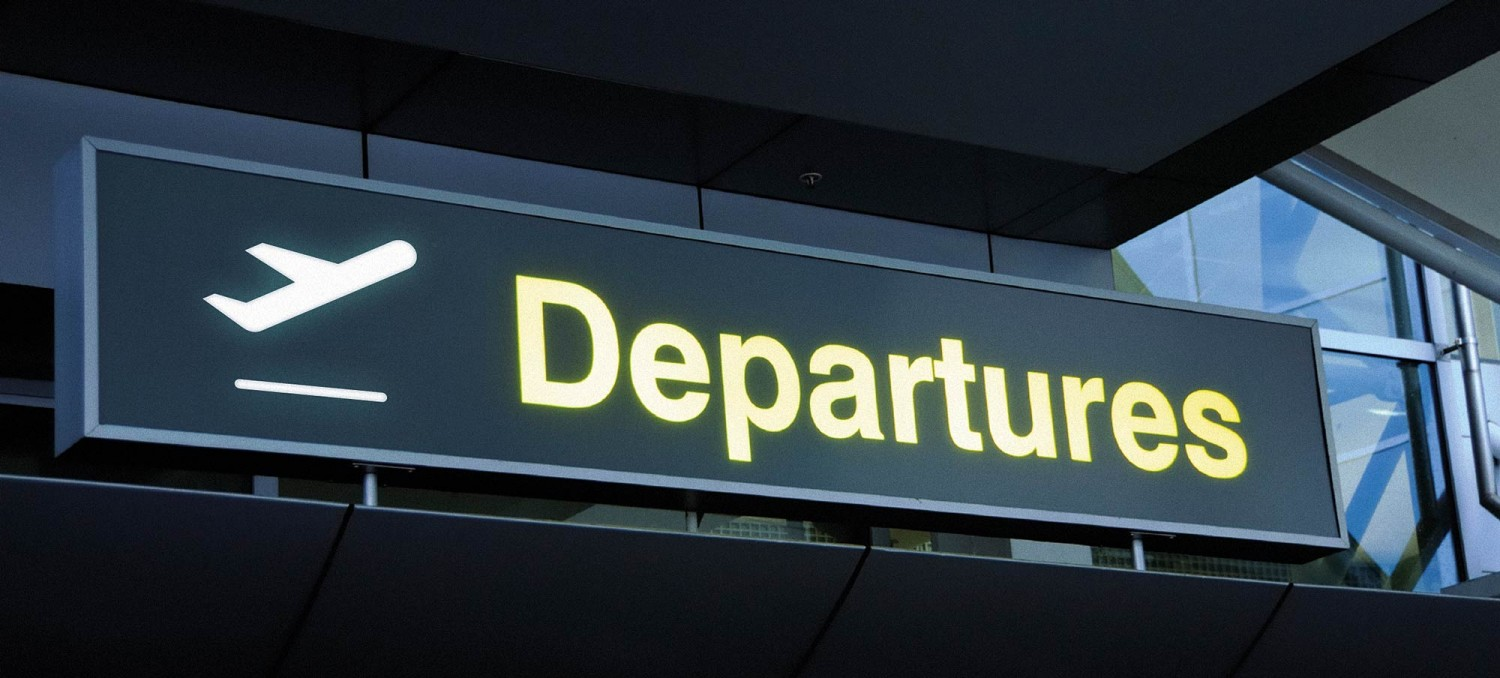 airport departure sign airplane