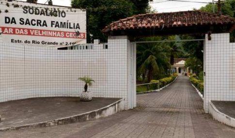 Entrada do projeto Sodalício Sacra Família - Lar de Velhinhas Cegas
