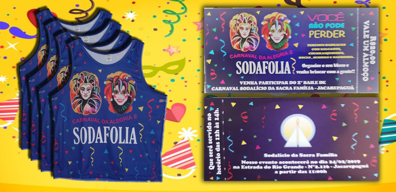 Sodafolia: Segundo Baile de Carnaval Solidário!