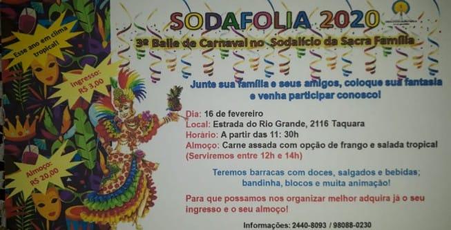 Sodafolia 2020 – Venha Participar!