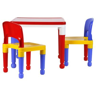 Mesa infantil con 2 sillas rojo amarillo azul  Sodimaccom