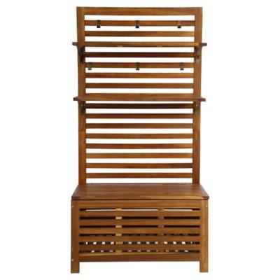 Mueble organizador de terraza con bal acacia  Just Home Collection  299920X