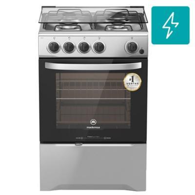 Cocina a gas 4 quemadores 66 litros silver  Mademsa  3354024