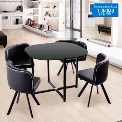 Juego de comedor Pizza 4 sillas  Home Collection  2460157