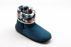 airplum-chausson-hiver-femme-rond-marine