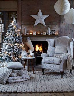 christmas festive room decor inspiration, tumblr, pinterest, artsy photo, blogmas 2015, day 3, fireplace, christmas, white aesthetics