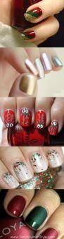 blogmas 2015, day 10, festive christmas nail art, aesthetics collage, inspiration, goals, artsy, tumblr, pinterest.