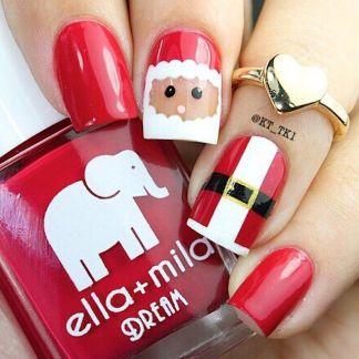 blogmas 2015, day 10, festive christmas nail art, red and white, snowflakes, santa, inspiration, goals, glitter, stars, jewels