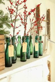 blogmas 2015, day 13, red and green appreciation post, christmas colours, interior decor, bottles and berries, mistletoe, artsy, tumblr, pinterest.
