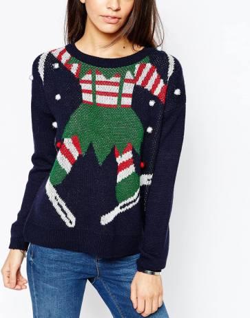 blogmas 2015, day 14, overly festive, ugly christmas jumpers, elf body, female sweater, asos, tumblr, pinterest
