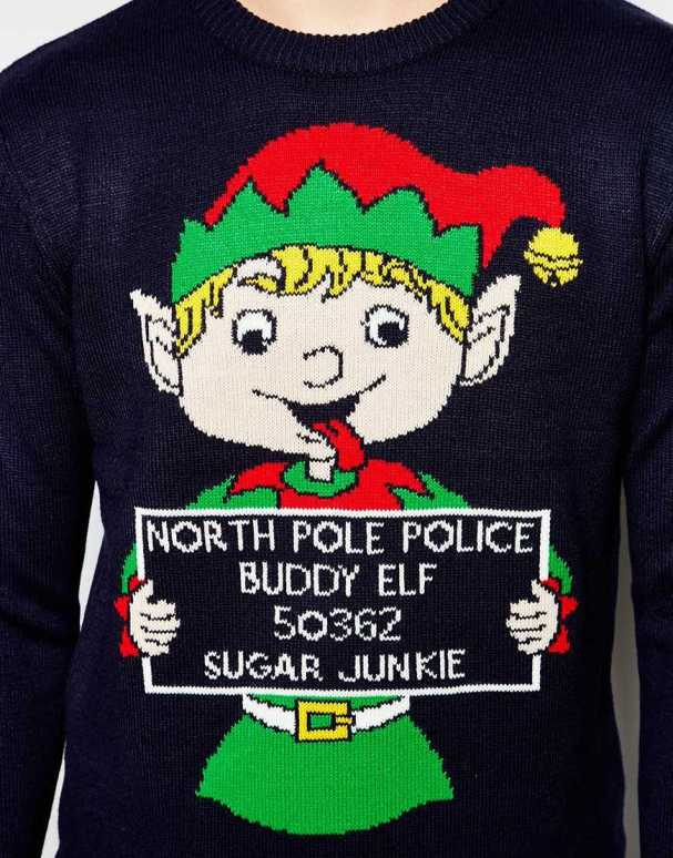 blogmas 2015, day 14, overly festive, ugly christmas jumpers, snowman, xmas tree, asos, male sweater, elf, buddy the elf, jail, pinterest, tumblr