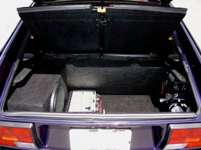 Amp and Sub-wof in the trunk