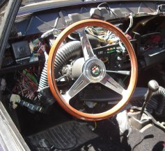 The nerd in the stripped down interior