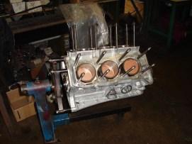 The V6 Busso motor being rebuilt