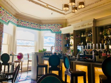 A gorgeous afternoon in the Ocean Bleu bar and lounge. I think this was just after a very long hike from Dover to Folkestone in 2018