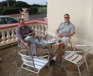 Mike Rinaldi and Pat Stansall