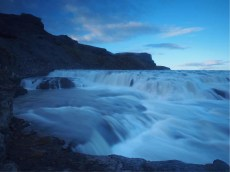 Iceland's most-visited waterfall. Saul got so distracted that he abandoned a backpack full of photographic equipment here, necessitating an unsuccessful 3-hour midnight excursion to try and retrieve it. He was however reunited with his lenses the next day.