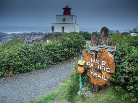 The Lighthouse Loop is a short but beautiful hike that forms part of the Wild Pacific Trail. We walked the full loop in good weather but also went back for a short foray during a storm. Storm-watching is a thing on Vancouver Island...