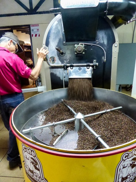 Costa Rica grows fantastic coffee, but unfortunately most of the good stuff is exported. We also weren't fans of the local brewing method, which is akin to pouring water through a sock full of ground coffee. WAY too much sediment...