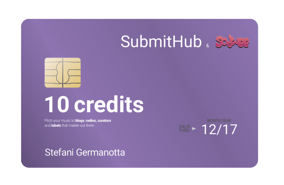 2nd Prize - 10 Premium Credits to use on SubmitHub