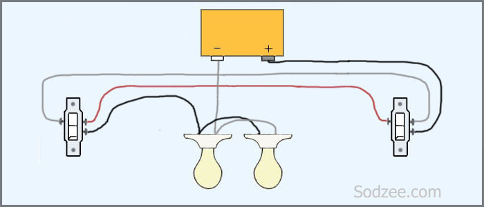 2 Light 3 Way Switch Wiring Diagram Variations 3 Way Light Switch