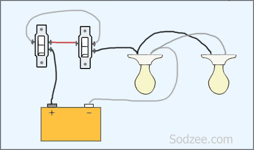 wiring diagram for a two way switched light gfci receptacle simple home electrical diagrams sodzee com three switch with lights