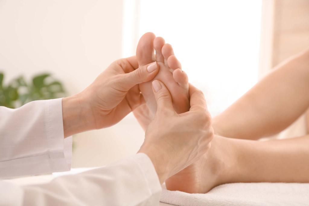 fod og læg massage