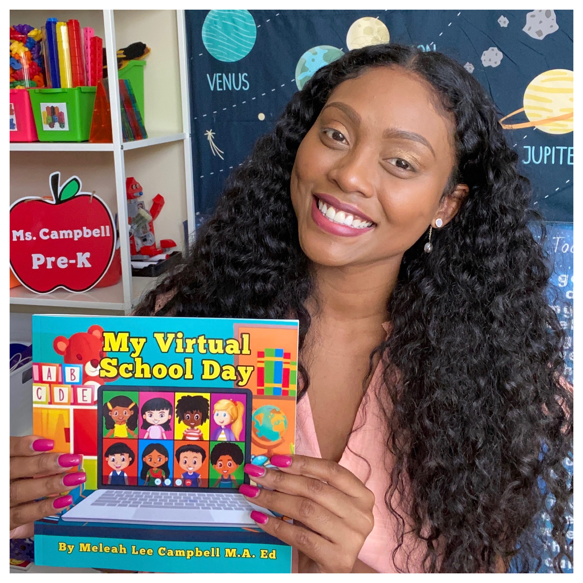 My Virtual School Day Campbell - Alum Authors Children's Book About Going to School Online