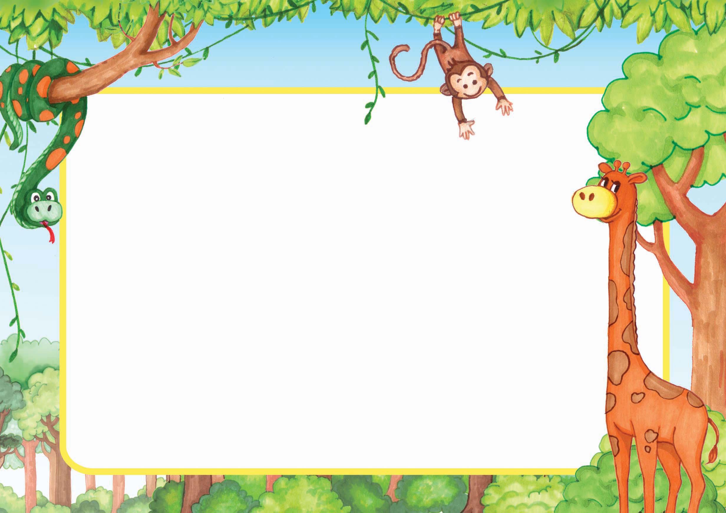 Artwork Of The Month Jungle Frame Kids Illustration