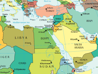 Map of Middle East - Middle East News Update