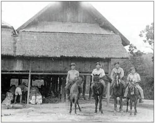 OSS anniversary - Mounted members of Detachment 101 in Burma during World War II (CIA image).