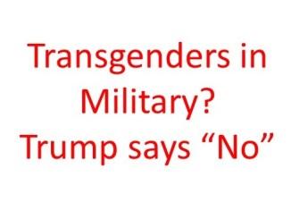 Transgenders in miliitary
