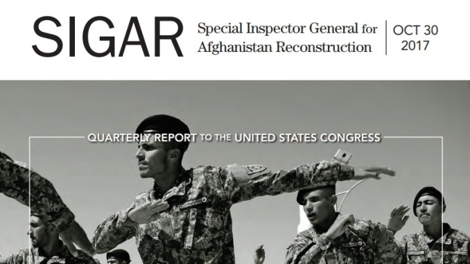 October 2017 SIGAR Report
