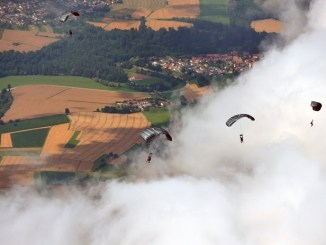SOF operators assigned to Special Operations Command Europe (SOCEUR) conduct parachute training in Europe. (SOCEUR photo 16 October 2017).