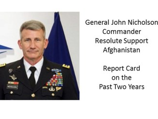General John Nicholson - commander Resolute Support Mission Afghanistan